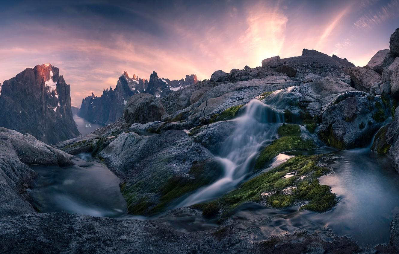 Обои потоки, скалы. Пейзажи foto 12