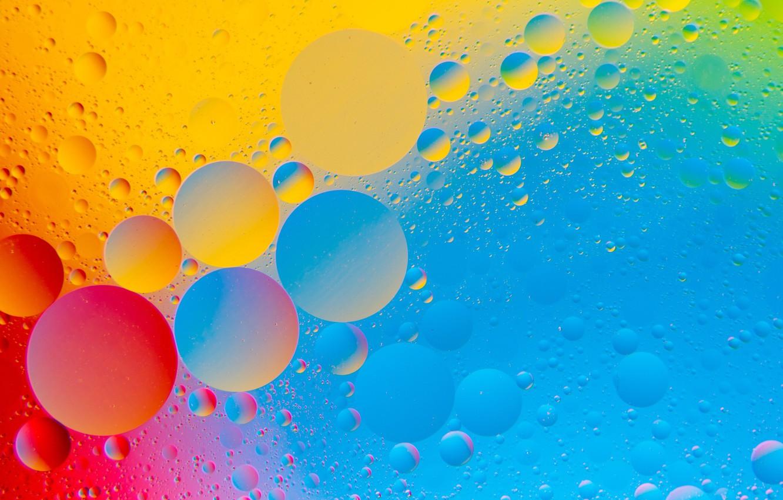 Обои пузырьки, воздух, ураски, Вода, Жидкость, масло, Цвет. Абстракции foto 13