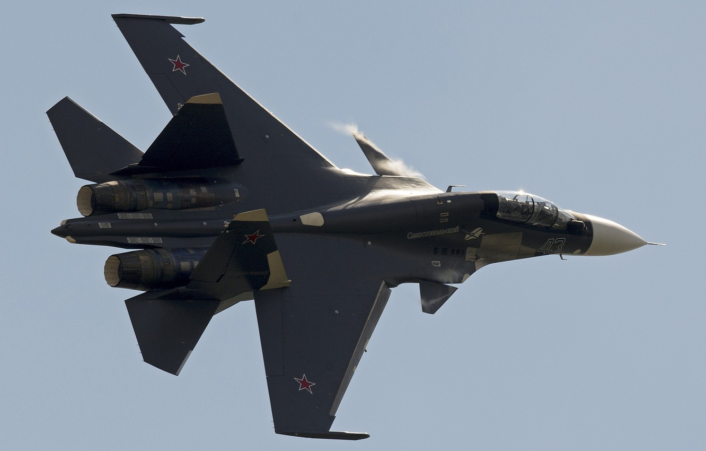 Фото обои истребитель, полёт, Су-30СМ