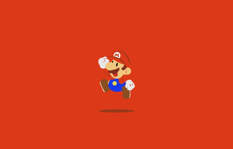 Фото обои Марио, Mario, главный герой, Mario Bros, Super Mario Bros, игровой персонаж, водопроводчик