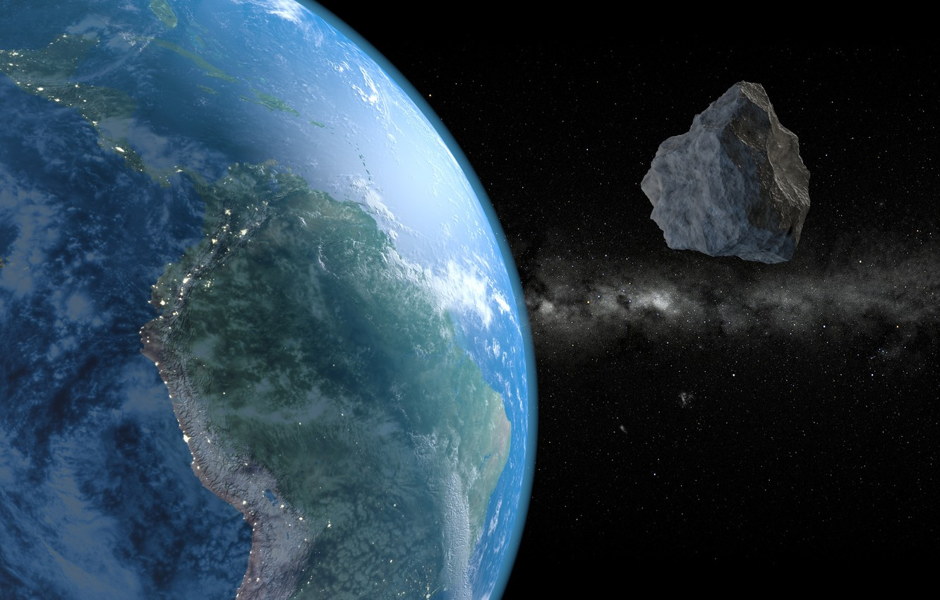 Фото обои Space, Asteroids, Earth From Space