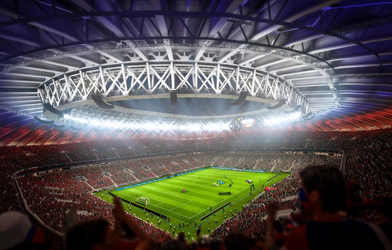 Обои футбол, стадион, 2018, Чемпионат Мира, FIFA 18 картинки на ...