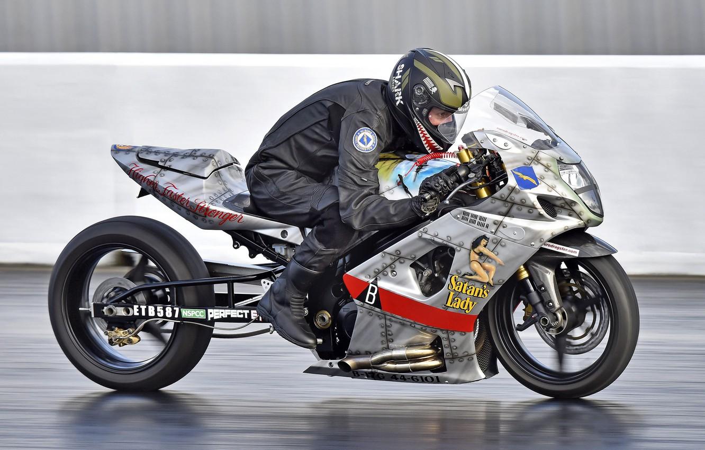 Фото обои скорость, байк, гонщик