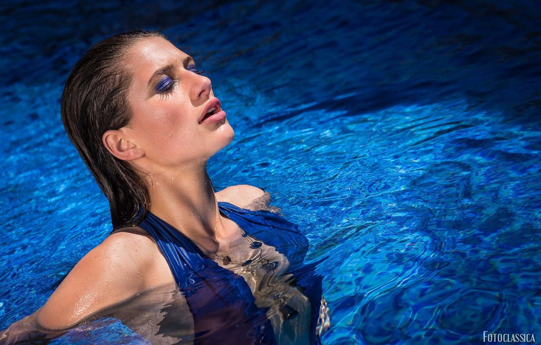 Фото обои вода, лицо, бассейн, макияж, Oliver Fotoclassica, Jenny Jessen
