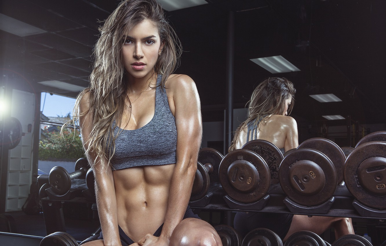 Обои model, look, pose, abs, fitness girl, Anllela Sagra картинки ...