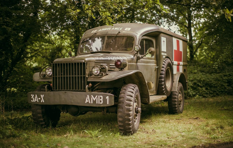 Фото обои Dodge, специализированный, медицинский автомобиль, WC 54