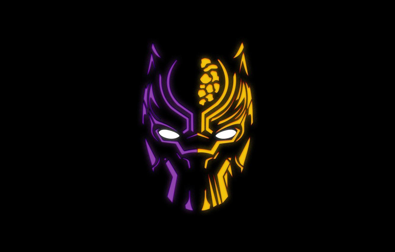 Фото обои маска, черный фон, комикс, MARVEL, Black Panther, Чёрная Пантера