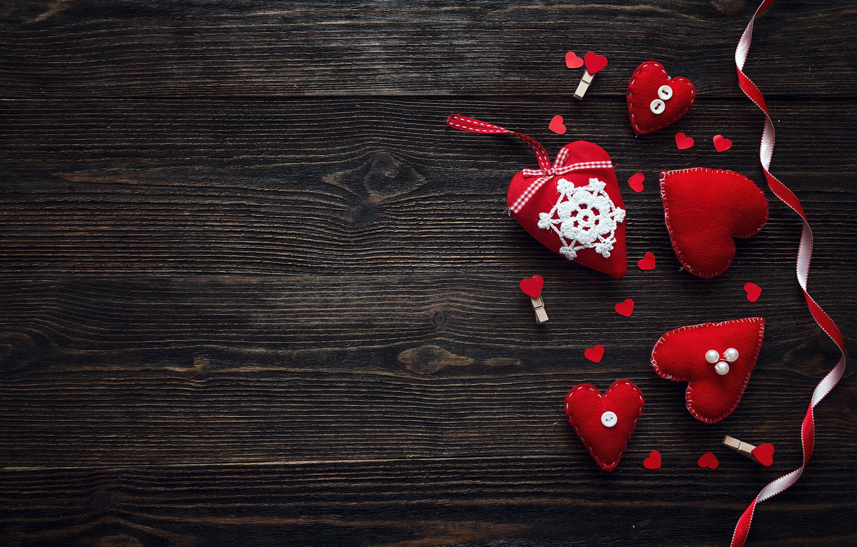 Фото обои любовь, сердце, сердечки, red, love, heart, wood, romantic, Valentine's Day, decoration
