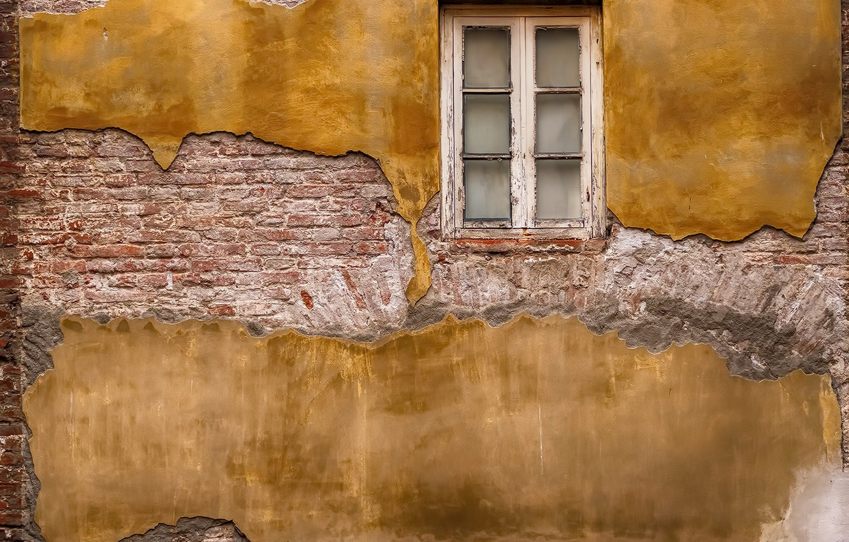 Фото обои дом, стена, окно
