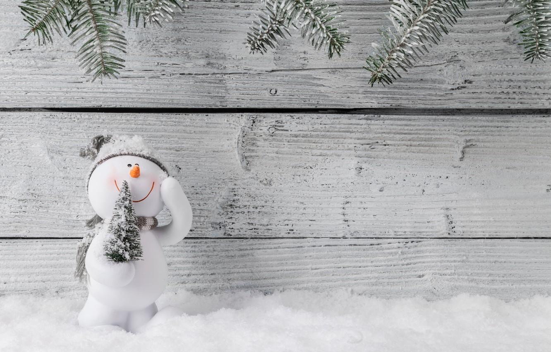 Фото обои зима, снег, снежинки, Новый Год, Рождество, снеговик, happy, Christmas, wood, winter, snow, Merry Christmas, Xmas, …