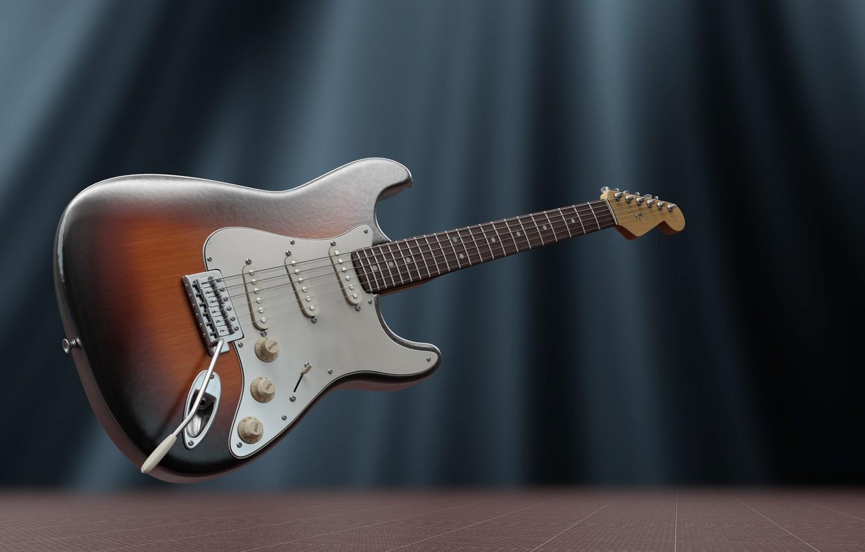 Фото обои гитара, струны, электрогитара