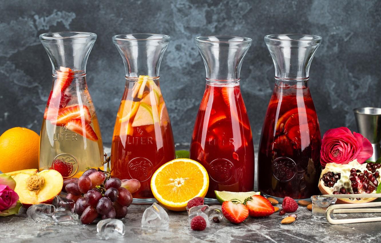 Обои апельсин, цитрусы, виноград, напиток, сок. Еда foto 6