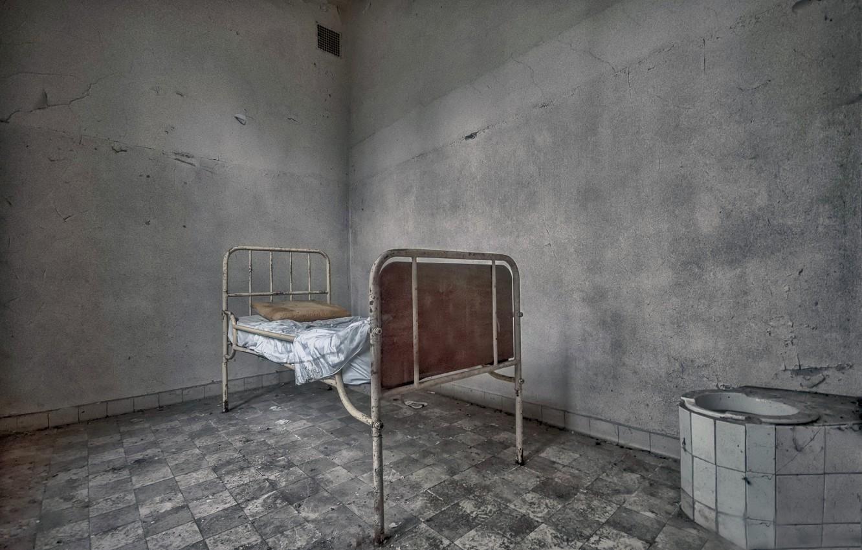 Фото обои фон, кровать, палата