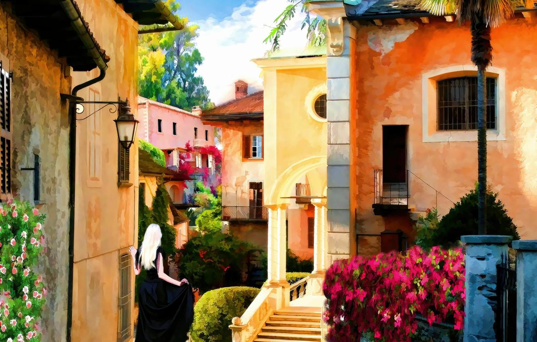 Обои старый город, дома, old city, улица, town, Old street. Города foto 10