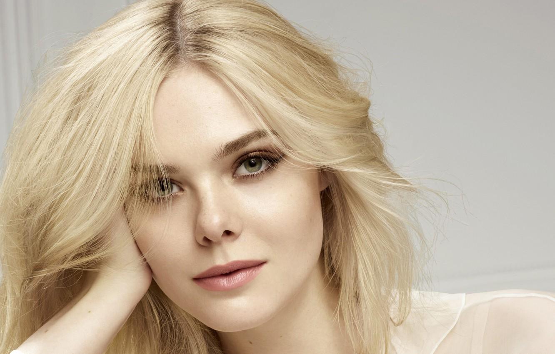 Фото обои модель, портрет, актриса, блондинка, красотка, фотосессия, Elle Fanning, Эль Фаннинг, 2017, L'Oreal Paris