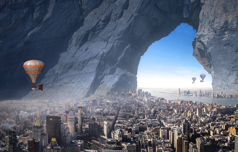 Обои воздушный шар, красиво. Города foto 17