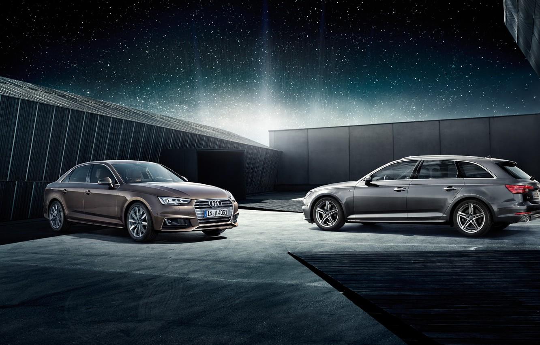 Фото обои audi, wall, Audi A4, new audi