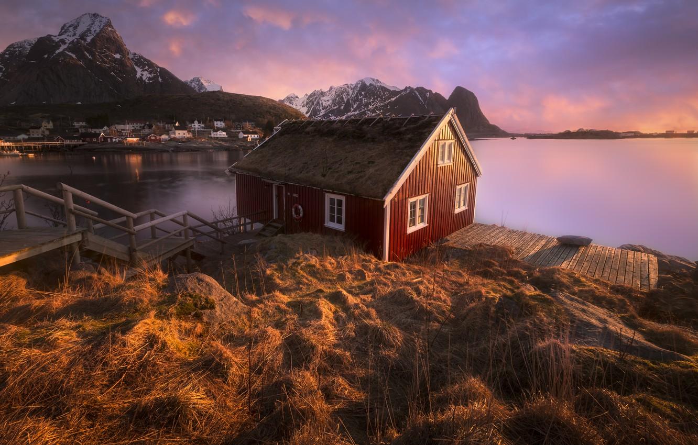 Фото обои norway, Reine, Lofoten, arctique