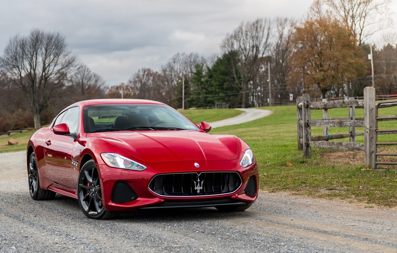 Фото обои Maserati, Red, GranTurismo, Sport