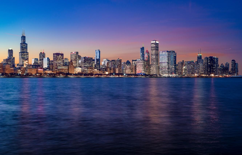 Обои небоскребы, мичиган, chicago, чикаго, иллиноис. Города foto 19