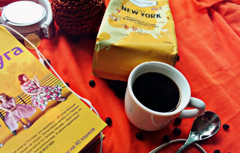 Фото обои сова, книги, ipod, кофе, духи, наушники, печенье, ложка, шоколадка, книга, напиток, крем, кофейные зерна, sony, …