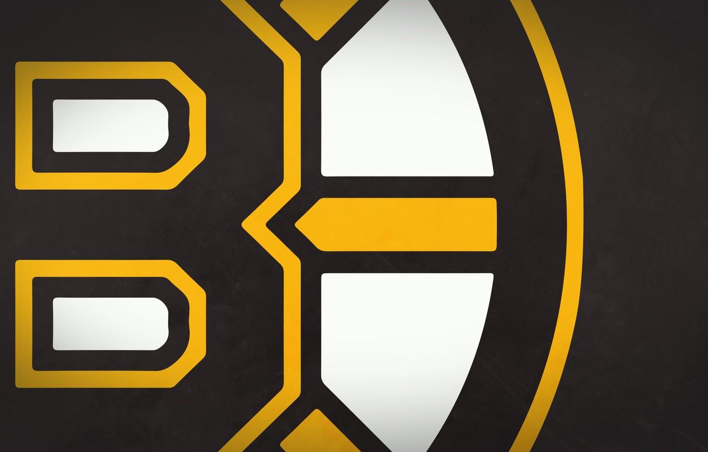 Фото обои белый, желтый, знак, черный, значок, медведь, эмблема, Бостон, мишки, Boston, NHL, НХЛ, бурые медведи, Хоккейная …