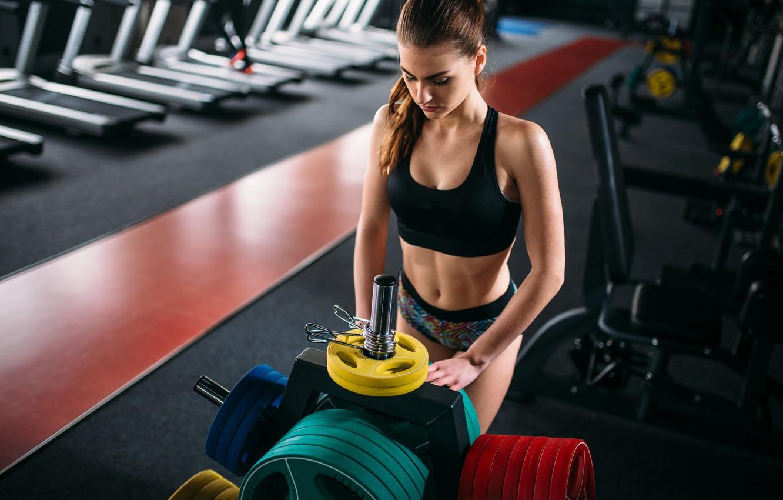 Фото обои model, fitness, gym
