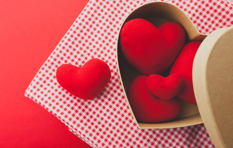 Фото обои red, love, romantic, hearts, valentine's day, gift