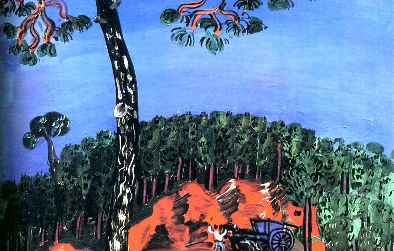 Фото обои New York, 1926, Huile sur Toile, Raoul Dufy, Perls Galleries, Paysage de l'Esterel, Landscape of …
