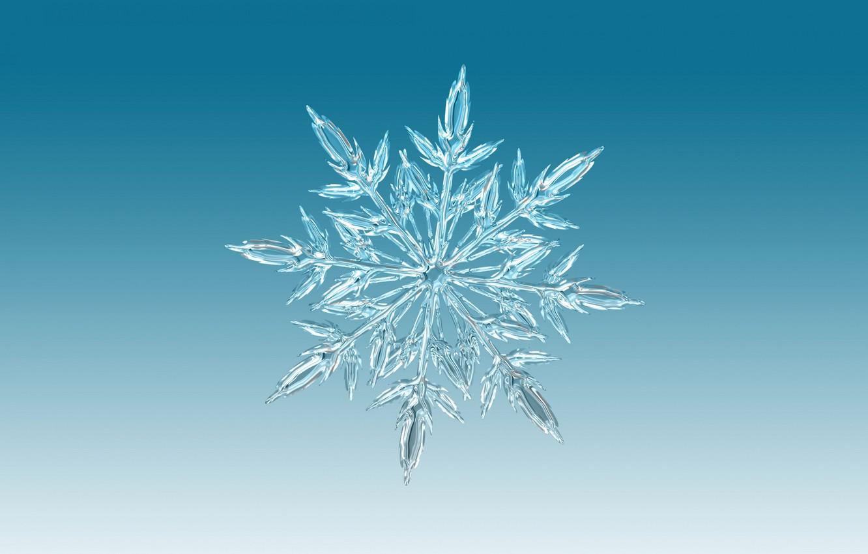 Фото обои лед, зима, узор, снежинка, симметрия