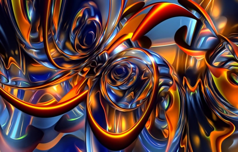 Фото обои свет, абстракция, фон, фантазия, обои, узор, рисунок, картинка, мерцание, светящиеся линии