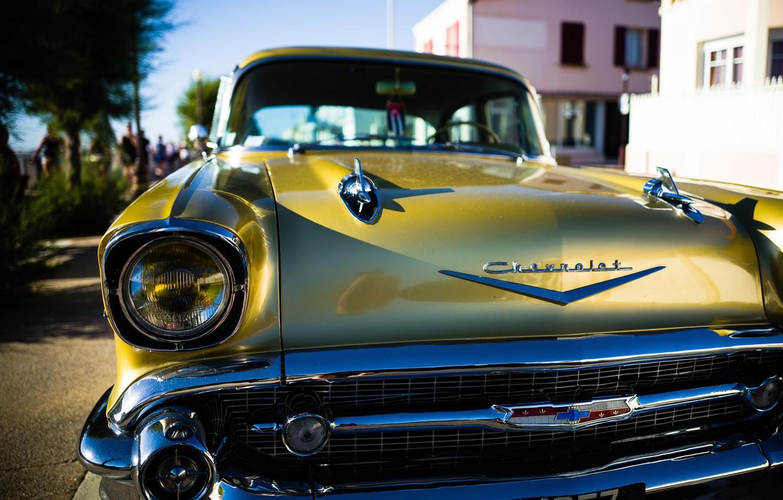 Фото обои ретро, Chevrolet, Bel Air, Куба, Chevrolet Bel Air