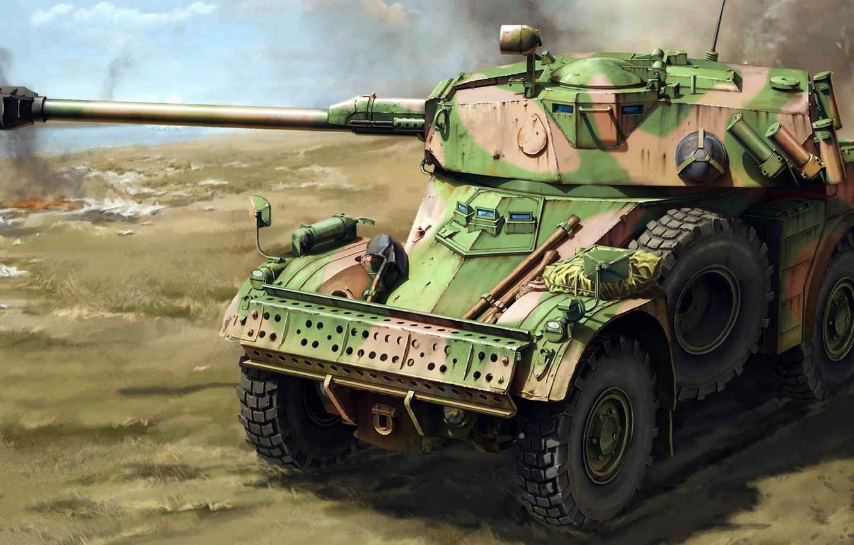 Фото обои Panhard, AML 90, French Light Armoured Car, Французский легкий бронеавтомобиль