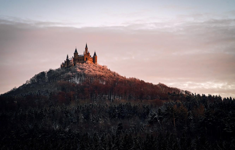 Фото обои пейзаж, Germany, Castle Hohenzollern