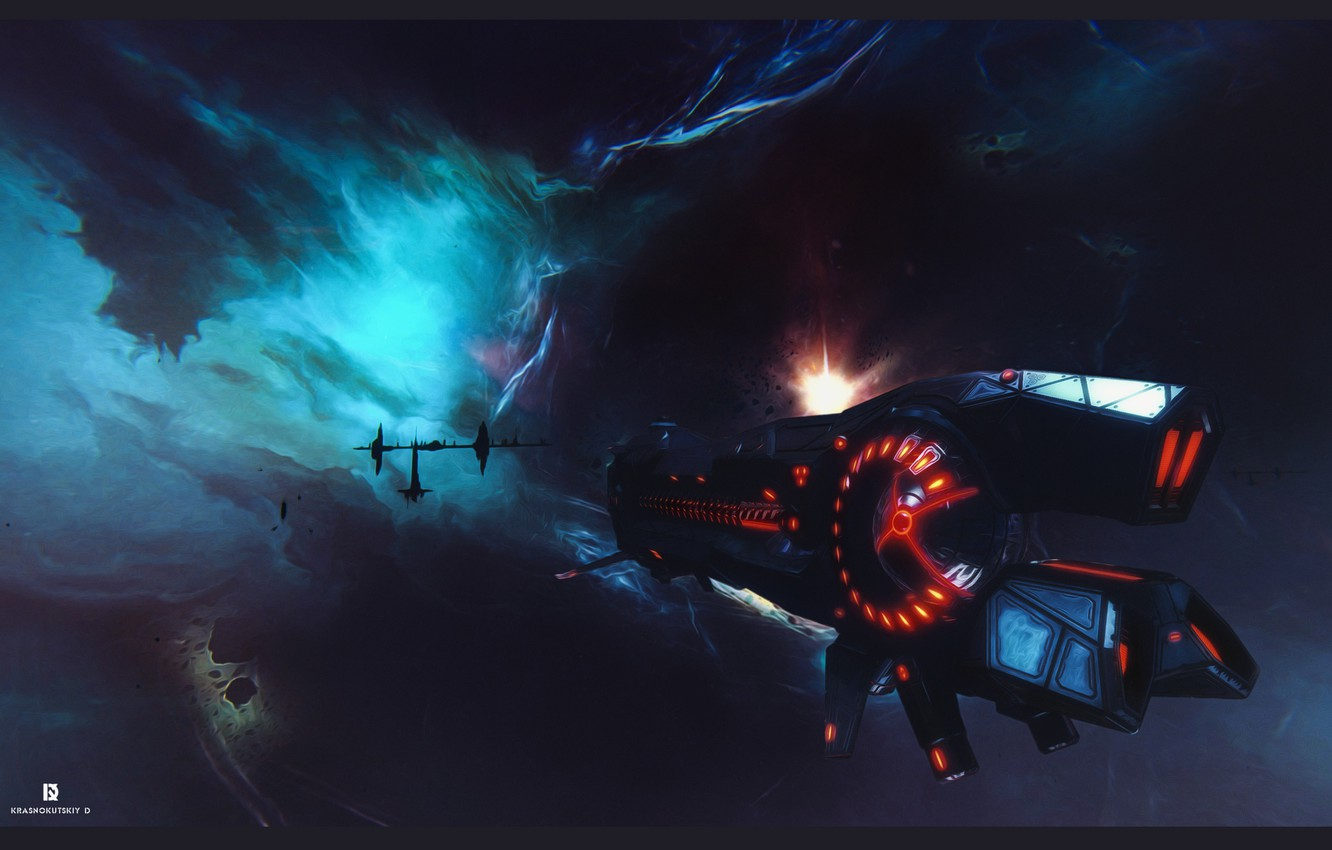 Фото обои space, game, ship, fan art, sci fi, game art, star conflict