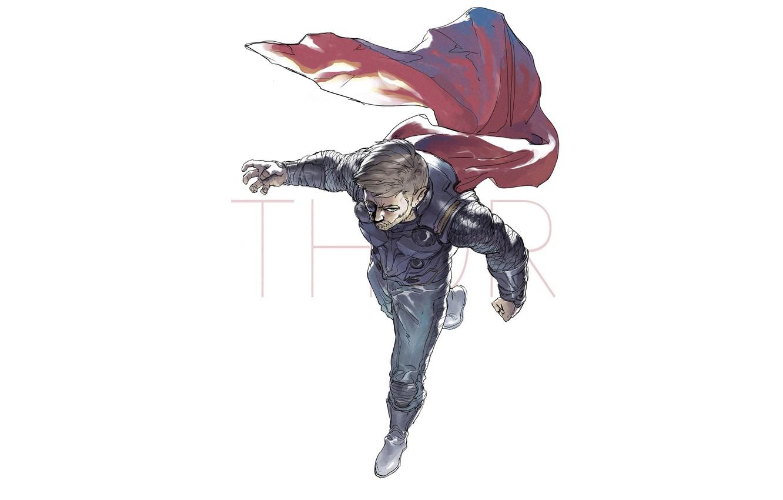 Фото обои Рисунок, Глаз, Герой, Плащ, Супергерой, Hero, Арт, Art, Marvel, Thor, Тор, Comics, Cape, Марвел, Комиксы, …