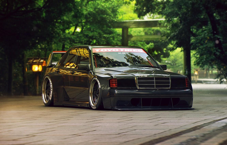 Фото обои Mercedes-Benz, Tuning, Future, 190E, by Khyzyl Saleem
