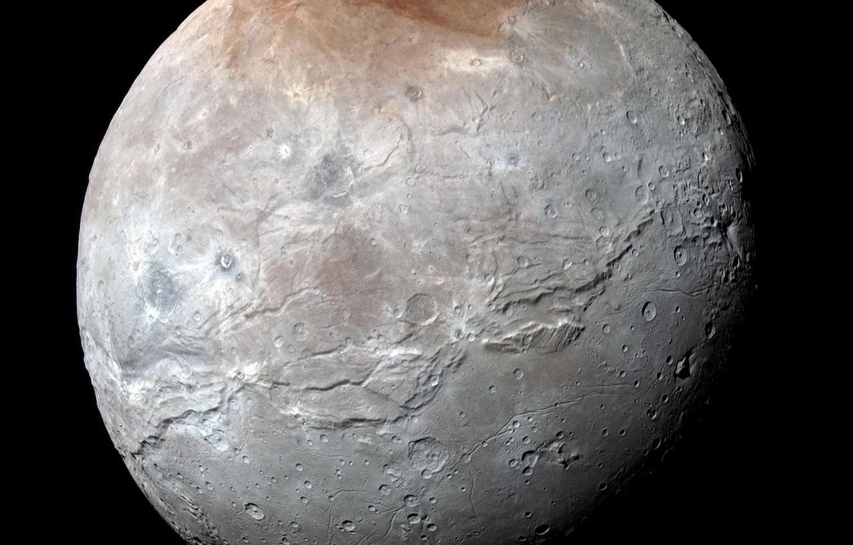 Фото обои New Horizons, Харон, спутник Плутона