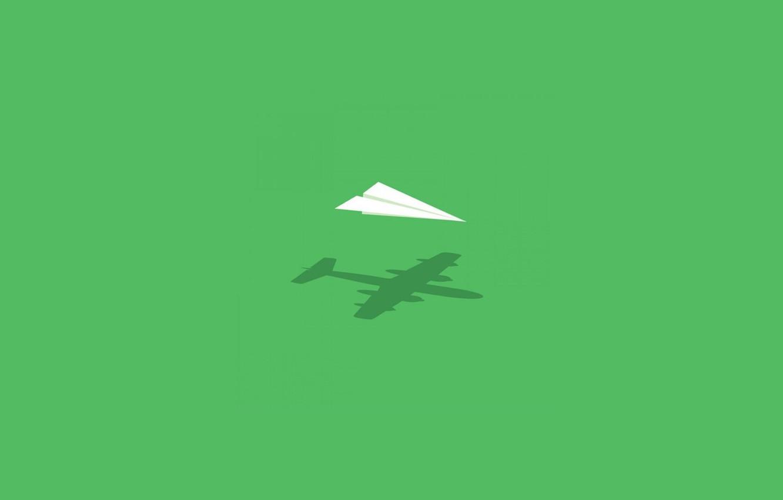 Фото обои green, Air, paper