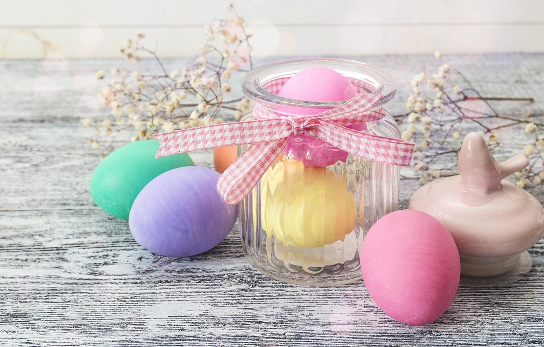 Фото обои цветы, весна, Пасха, wood, flowers, spring, Easter, eggs, decoration, Happy, яйца крашеные