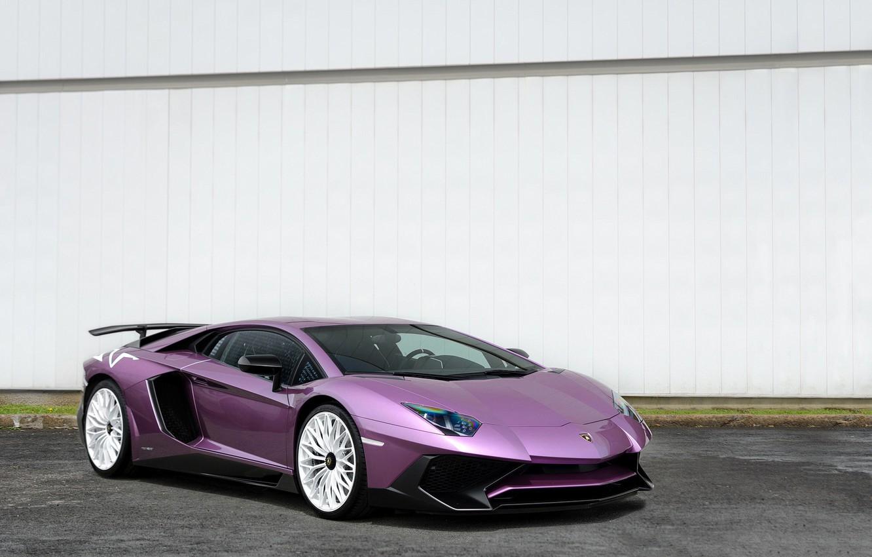 Фото обои Lamborghini, Aventador, painted, Viola, SE30