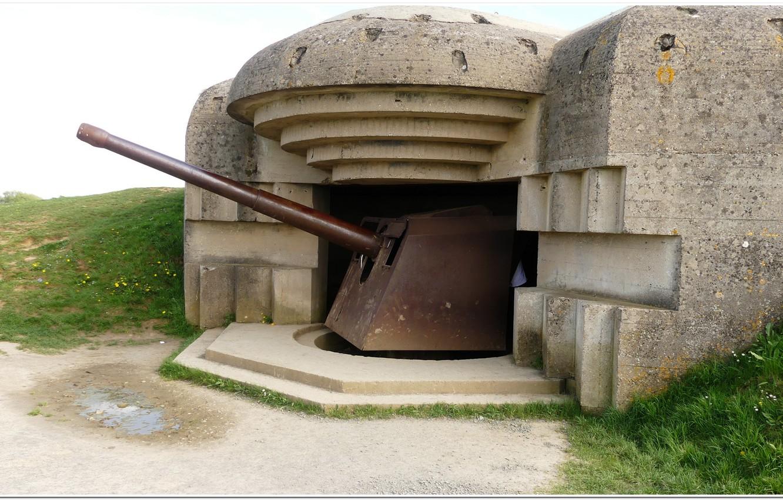 Фото обои gun, france, normandy, artillery, overlord