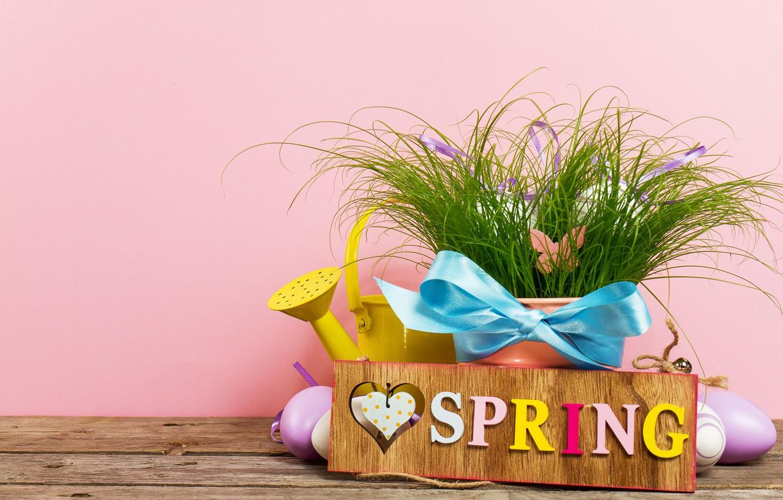 Фото обои яйца, весна, Пасха, grass, happy, wood, spring, Easter, eggs, decoration