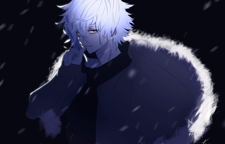 Фото обои ночь, аниме, арт, парень, Fate / Grand Order