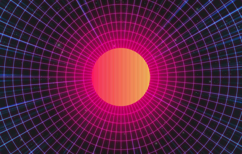 Фото обои Музыка, Звезды, Робот, Неон, Космос, Фон, Electronic, Synthpop, Darkwave, Synth, Retrowave, Синти-поп, Синти, Synthwave, Synth …