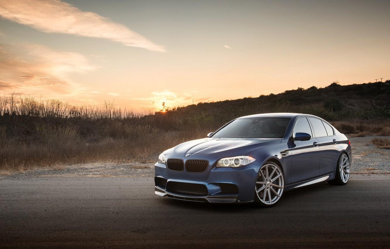 Фото обои BMW, Sunset, F10, Sight, LED