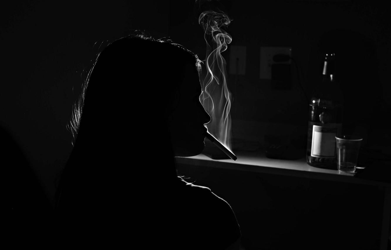 Обои сигарета, бутылка. Разное foto 6
