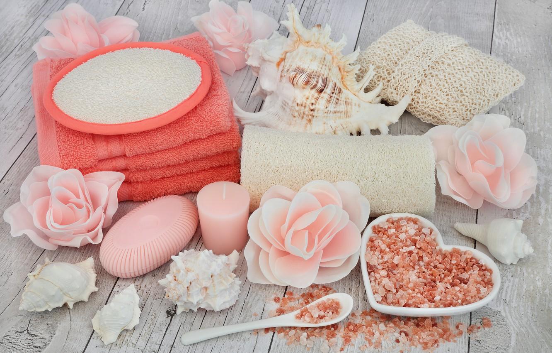 Обои Seashells, Spa, salt, still life, ракушки, соль, wellness. Разное foto 8