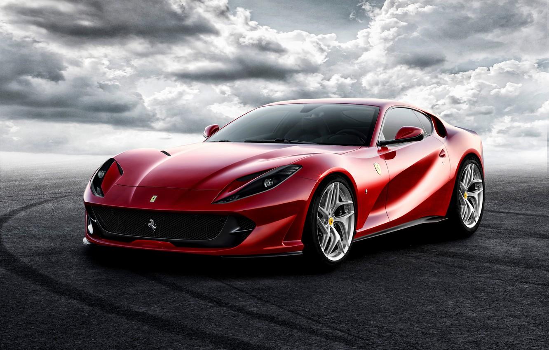 Фото обои фон, Ferrari, суперкар, феррари, Superfast, 812