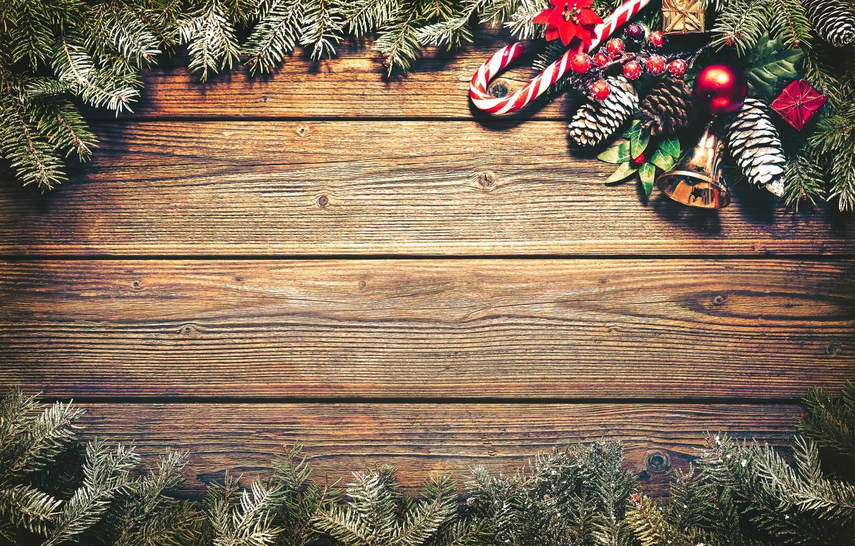 Фото обои Новый Год, Рождество, wood, merry christmas, decoration, fir tree